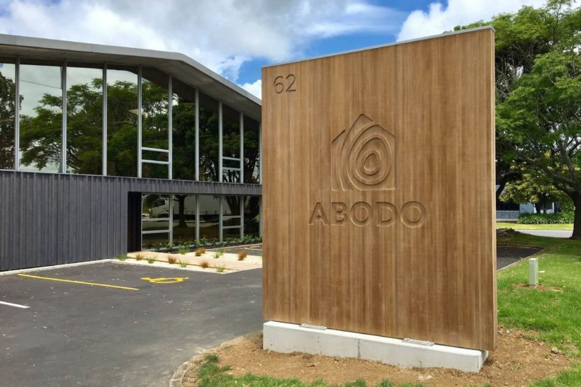 Factory Showroom Sign - Abodo Wood