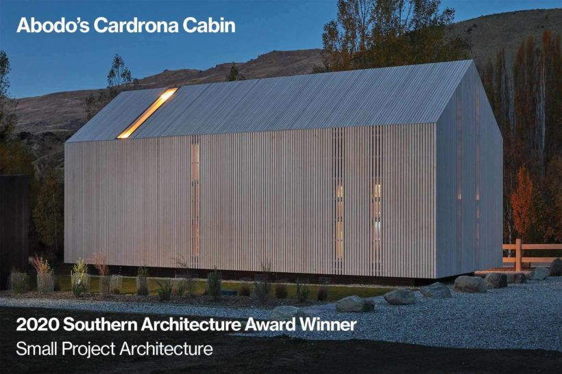 It's a WIN! The Cardrona Cabin Takes Home Small Project Architecture Award - Abodo Wood
