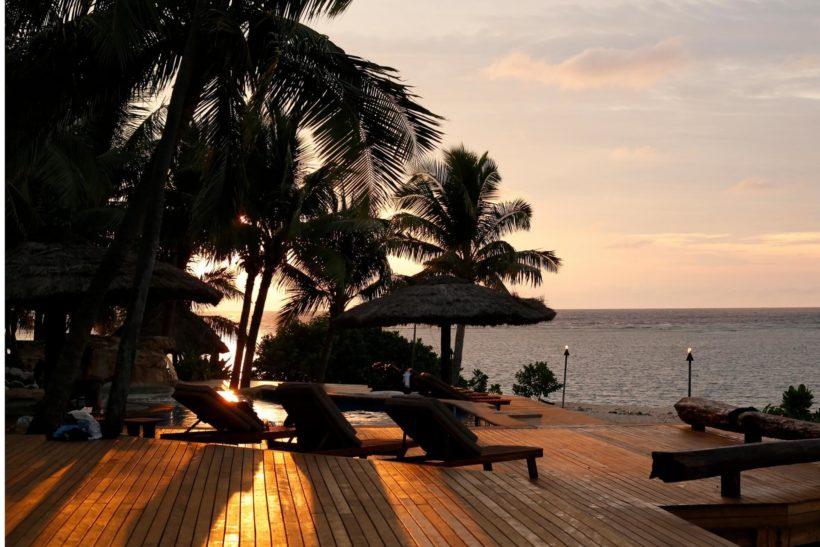 Fiji Tavarua Island eco resort Abodo Sand hardwood decking alternative