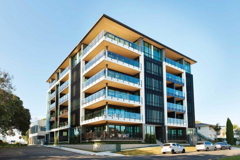 Latitude Luxury Apartments - Vulcan Cladding in Sioox - Abodo Wood
