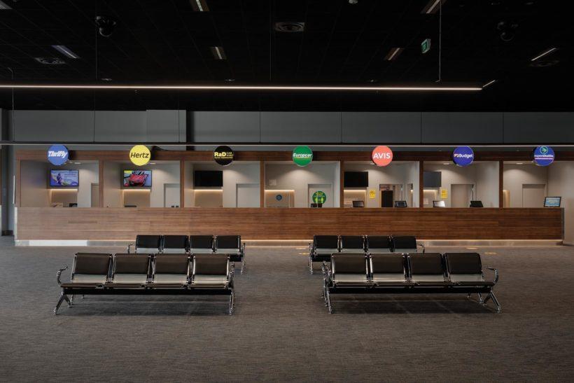 Rotorua Airport - Vulcan Cladding and Vulcan Screening - Abodo Wood