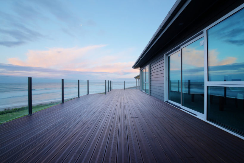 Stunning FSC approved Vulcan decking timber on a Kiwi holiday house