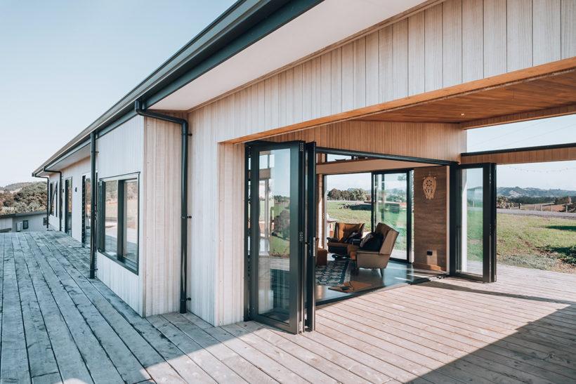 Tutukaka Rammed Earth Eco Home - Vulcan Cladding - Abodo Wood