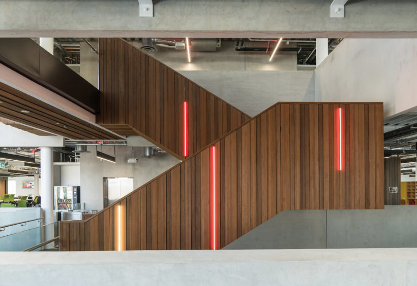 Vodafone Building - Vulcan Cladding & Screening - Abodo Wood