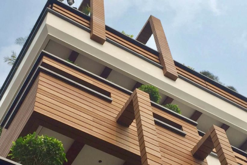Column cladding create a large section solid wood look