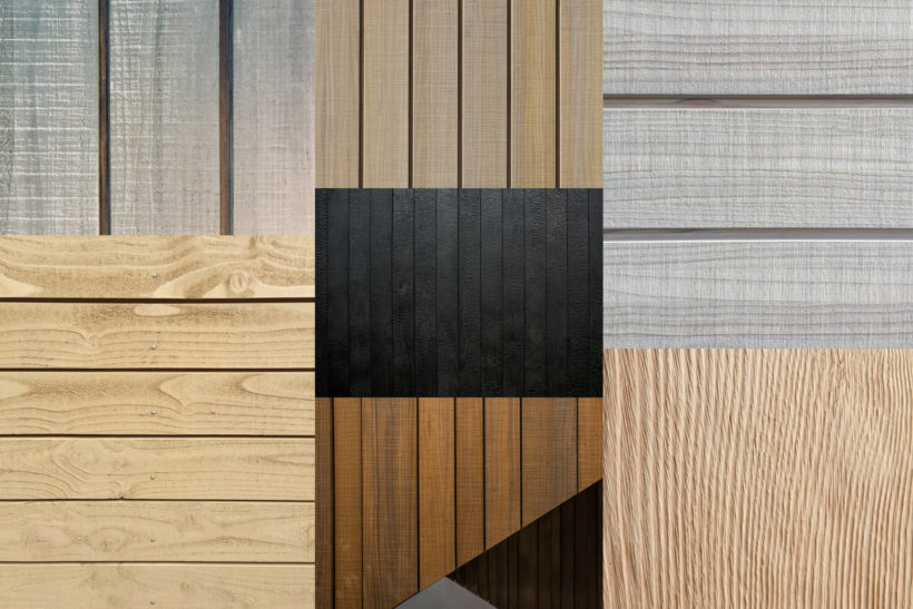 Natural Wood Cladding Textures And Finishes - Abodo Wood