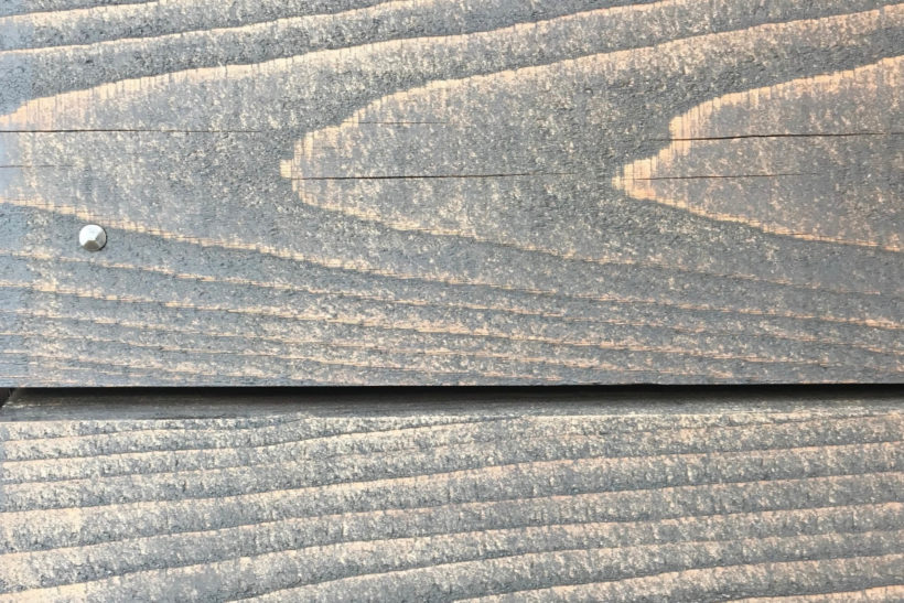 Timber surface checking Western Red Cedar