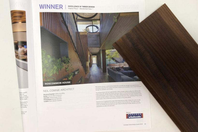 Roscommon House Wins Australian Timber Design Award 2018