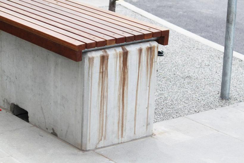 Timber leaching tannin bleed in Kwila Merbau wood